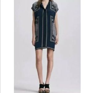 VINCE Scarf Print Silk Georgia Blouse Size XSmall